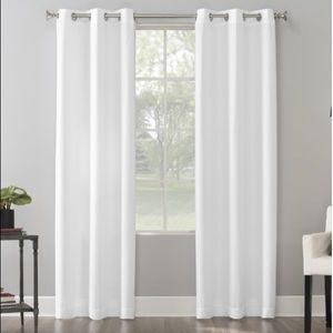 The Big One – 2 panel curtains; white